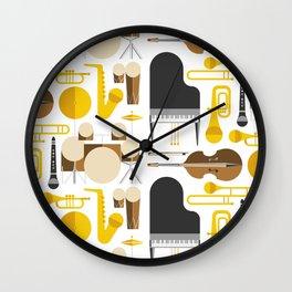 Jazz instruments Wall Clock