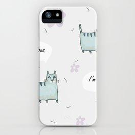 Catitude iPhone Case