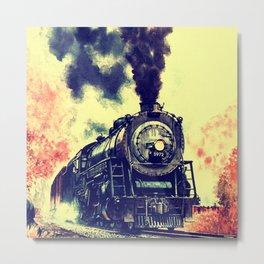 Express Train Metal Print