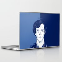 cumberbatch Laptop & iPad Skins featuring Sherlock I - Benedict Cumberbatch by Pri Floriano