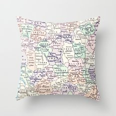 vintage France Throw Pillow