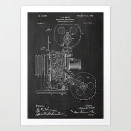 Projecting Kinetoscope Patent Art Print