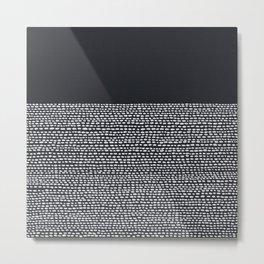 Riverside (Black) Metal Print