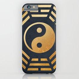 Golden Yin Yang I Ching iPhone Case