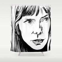 Joni Mitchell Shower Curtain