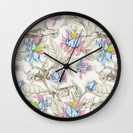 The Sea Garden - pastel Wall Clock