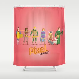 Dungeons and Dragons - Pixel Nostalgia Shower Curtain