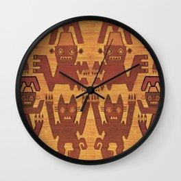Inca Shaman Spirits Wall Clock
