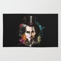 johnny depp Area & Throw Rugs featuring Johnny Depp by Owen Ballesteros