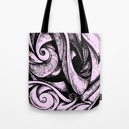 Swirl (black and pink) Tote Bag