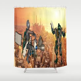 Defense of Planet Earth Shower Curtain