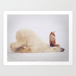 Foxy takedown Art Print