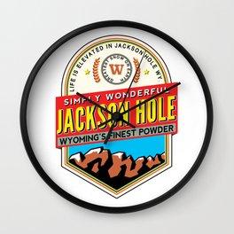 Skiing Jackson Hole Wyoming Wall Clock