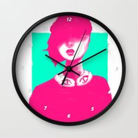 contemporary Wall Clocks featuring Contemporary Collar by Ben Geiger