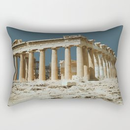 Athens Acropolis, Greece Travel Artwork Rectangular Pillow