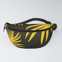 Palm Leaves Pattern Yellow Vibes #1 #tropical #decor #art #society6 Fanny Pack