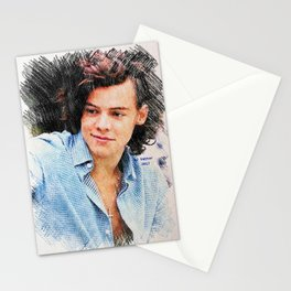 Harry Styles, One Direction, 1D, 1dFanArt Stationery Cards