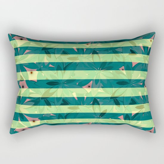 Vegetation-stripes Rectangular Pillow
