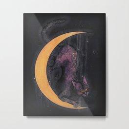Mooncat Metal Print