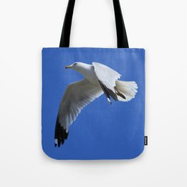 Ring-Billed Gull in Flight Tote Bag