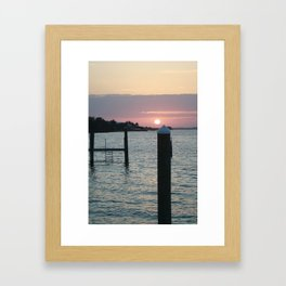 Sunset and the Sea Framed Art Print