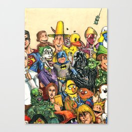 Pop Culture Ventriloquist Mashup Canvas Print