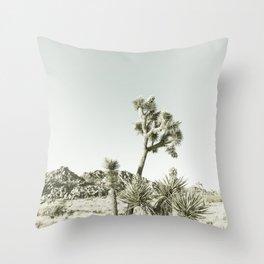 Joshua Tree National Park | Vintage Throw Pillow