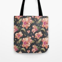 hibiscus Tote Bags featuring Hibiscus by 83 Oranges™