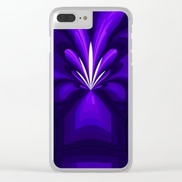 Purple Fountain Clear iPhone Case