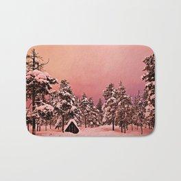 Magic of frozen forest Bath Mat
