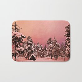 Magic of frozen forest Bath Mat