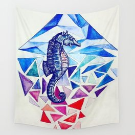 Seahorse on the Ocean floor Wall Tapestry