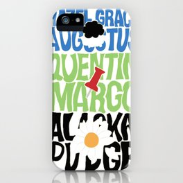 The Fault In Our Stars, Paper Towns and Looking For Alaska Typography iPhone Case
