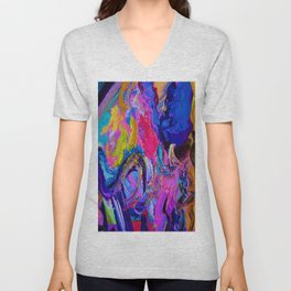 Abstract Viscosity Unisex V-Neck