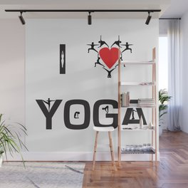 I heart Yoga Wall Mural