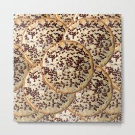 Chocolate Chip Cheesecake Metal Print