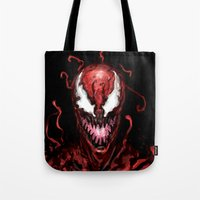 carnage Tote Bags featuring Carnage by dariiy