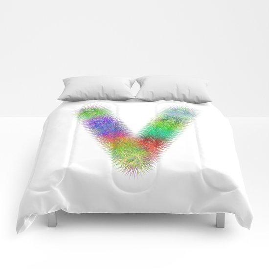 Letter V Comforters