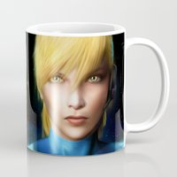 samus Mugs featuring Samus Aran by Joe Roberts