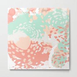 Pippa - minimal trendy gender neutral bright happy color palette nursery art Metal Print