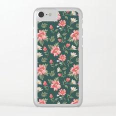 Retro Vintage Flowers vol.2 Clear iPhone Case