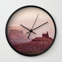 geology Wall Clocks featuring Valley of The Gods by Helix Games Media
