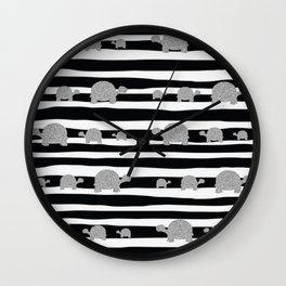 Silver turtle pattern Wall Clock