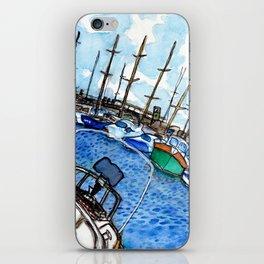 Boats at the Marina iPhone Skin