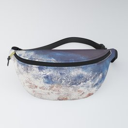 Abstract paintings ocean, pink navy, ink blue Fanny Pack