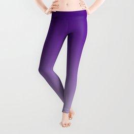 Violet to Pastel Violet Horizontal Linear Gradient Leggings