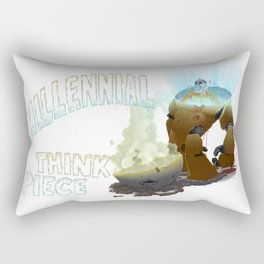 Millennial Think Piece Rectangular Pillow