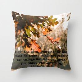 1 Corinthians two nine #bibleverse #inspirational Throw Pillow