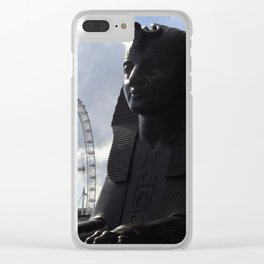 The eye and sphinx Clear iPhone Case