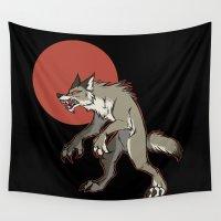 werewolf Wall Tapestries featuring Redmoon Werewolf by Ectoimp